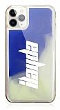 iPhone 11 Pro Kişiye Özel Neon Kumlu Mavi Silikon Kılıf