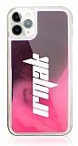iPhone 11 Pro Kişiye Özel Neon Kumlu Pembe Silikon Kılıf