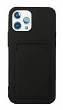 iPhone 11 Pro Max Kartlıklı Siyah Kılıf