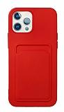 iPhone 11 Pro Max Kartlıklı Kırmızı Kılıf