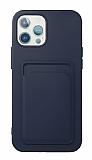 iPhone 11 Pro Max Kartlıklı Lacivert Kılıf