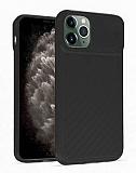 iPhone 11 Pro Max Kaydırmalı Kamera Korumalı Siyah Silikon Kılıf