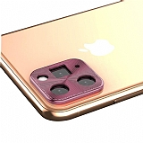 iPhone 11 Pro Max Rose Gold Metal Kamera Lensi Koruyucu