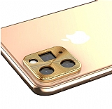 iPhone 11 Pro Max Gold Metal Kamera Lensi Koruyucu