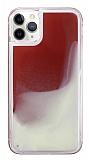 iPhone 11 Pro Max Neon Kumlu Kırmızı Silikon Kılıf