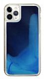 iPhone 11 Pro Max Neon Kumlu Lacivert Silikon Kılıf