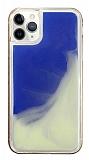 iPhone 11 Pro Max Neon Kumlu Mavi Silikon Kılıf