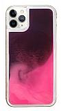 iPhone 11 Pro Max Neon Kumlu Pembe Silikon Kılıf