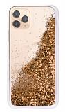 iPhone 11 Pro Max Simli Sulu Gold Rubber Kılıf