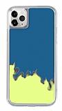 iPhone 11 Pro Neon Kumlu Mavi Silikon Kılıf