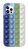iPhone 12 Pro Max 6.7 inç Push Pop Bubble Yeşil Silikon Kılıf