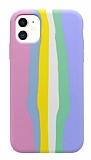 iPhone 11 Rainbow Lansman Pembe Silikon Kılıf