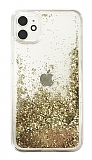 iPhone 11 Simli Sulu Gold Rubber Kılıf