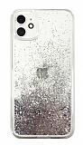 iPhone 11 Simli Sulu Silver Rubber Kılıf