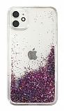 iPhone 11 Simli Sulu Mor Rubber Kılıf