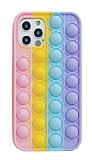 iPhone 12 / 12 Pro 6.1 inç Push Pop Bubble Sarı Kılıf