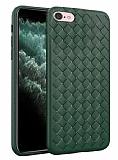 iPhone 7 / 8 Hasır Desenli Yeşil Silikon Kılıf