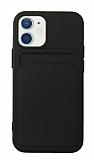 iPhone 12 Mini 5.4 inç Kartlıklı Siyah Kılıf