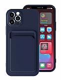 iPhone 12 Pro 6.1 inç Kartlıklı Kamera Korumalı Lacivert Kılıf