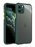 iPhone 12 Pro 6.1 inç Ultra Koruma Kaff Koyu Yeşil Kılıf