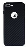 iPhone 7 Plus / 8 Plus Karbon Siyah Silikon Kılıf