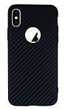 iPhone X / XS Karbon Siyah Silikon Kılıf