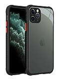 iPhone 12 Pro Max 6.7 inç Ultra Koruma Kaff Siyah Kılıf
