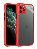 iPhone 12 Pro Max 6.7 inç Ultra Koruma Kaff Kırmızı Kılıf
