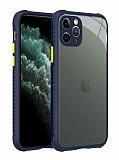 iPhone 12 Pro Max 6.7 inç Ultra Koruma Kaff Lacivert Kılıf