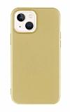 iPhone 13 Mini 5.4 inç Mat Gold Silikon Kılıf