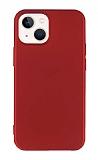 iPhone 13 Mini 5.4 inç Mat Kırmızı Silikon Kılıf