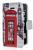 iPhone 3G / 3GS Telefon Kul�besi C�zdanl� Yan Kapakl� Deri K�l�f