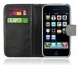 iPhone 3G / 3GS Yan C�zdanl� Siyah K�l�f