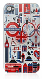 iPhone 4 / 4S London Underground Sert Rubber K�l�f