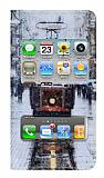 iPhone 4 / 4S Pencereli �nce Kapakl� Taksim K�l�f