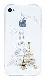 iPhone 4 / 4S Ta�l� Paris �effaf Silikon K�l�f