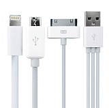 iPhone 4, iPhone 5 ve Micro USB 3 � Bir Arada Data Kablosu