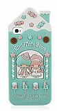 iPhone 4/4S Cookie House Ye�il Silikon K�l�f