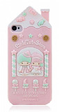 iPhone 4/4S Cookie House Pembe Silikon K�l�f