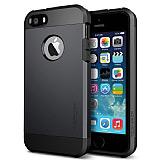 Spigen Tough Armor iPhone 5 / 5S Siyah K�l�f