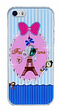 iPhone 5 / 5S Lovely Paris Ta�l� Rubber K�l�f