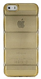 iPhone 5 / 5S Bubble �effaf Gold Silikon K�l�f