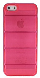 iPhone 5 / 5S Bubble �effaf Pembe Silikon K�l�f