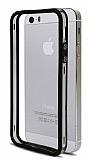 iPhone SE / 5 / 5S Silikon Bumper Çerçeve Siyah Kılıf