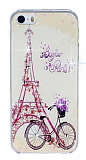 iPhone 5 / 5S Bonjour Paris Ta�l� Rubber K�l�f