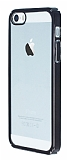 iPhone 5 / 5S Siyah Kenarl� �effaf Rubber K�l�f