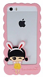 Candy House iPhone 5 / 5S K�z Bumper �er�eve A��k Pembe K�l�f