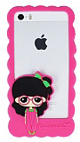 Candy House iPhone 5 / 5S K�z Bumper �er�eve Koyu Pembe K�l�f