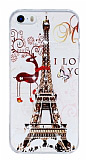 iPhone 5 / 5S Deer Paris Ta�l� Rubber K�l�f