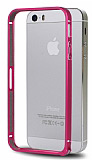 iPhone 5 / 5S Metal Bumper �er�eve Pembe K�l�f
